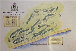 Royal County Down Golf course print
