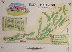 Royal Portrush golf course print