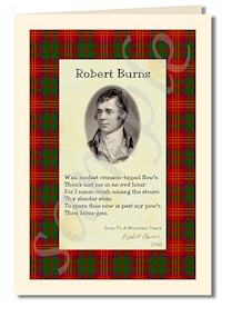 robert burns extract from to a mountain daisy card