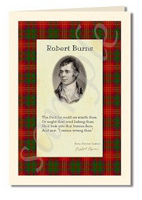 robert burns extract from bonny lesley cards
