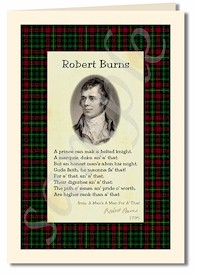 robert burns extract from from a mans a man for a that cards