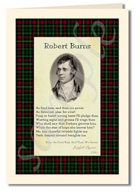 robert burns extract from ae fond kiss cards
