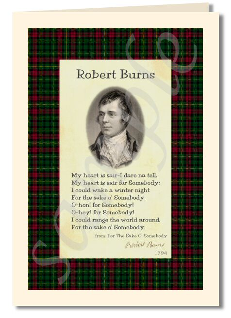 Tartan rock robert burns for the sake o somebody greeting card robert burns extract from for the sake o somebody greeting card m4hsunfo