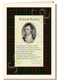 robert burns extract from I Murder Hate cards