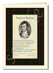 robert burns extract from banks o doon  3rd version cards