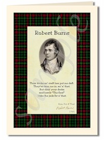 robert burns extract from a that cards