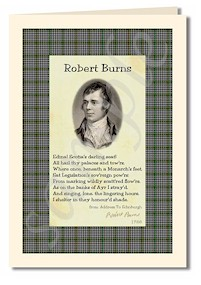 robert burns extract from Address to Ednburgh cards