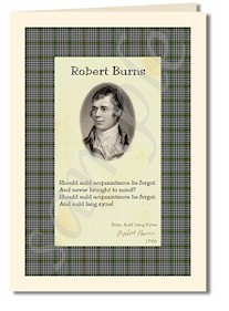 robert burns extract from Auld Lang Syne cards