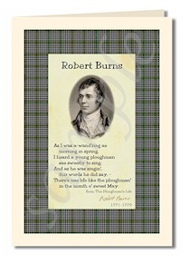 robert burns extract from The Ploughman's Life cards