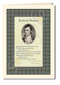 robert burns extract from The Banks of Nith cards