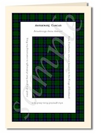 tartan greeting cards